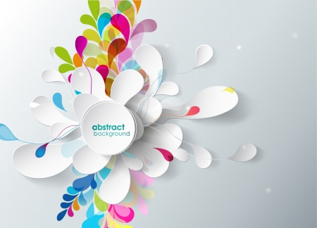 Illustration pour abstract background with paper flower.  - image libre de droit