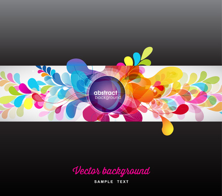 Ilustración de abstract colored background with circles. - Imagen libre de derechos