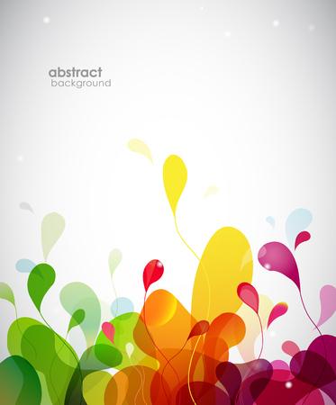 Photo pour Colorful abstract background with flowers. - image libre de droit