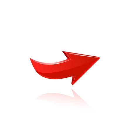 Illustration pour Red arrow. - image libre de droit