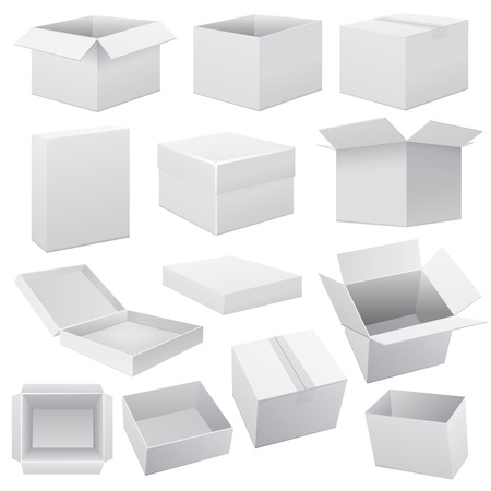 Ilustración de Box set. Vector Web on white illustration  - Imagen libre de derechos
