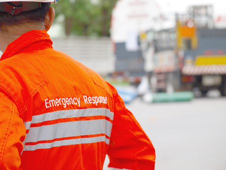 Foto de The man in a emergency respond situation - Imagen libre de derechos
