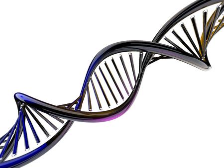 Foto de Digital illustration of a DNA model. 3D rendering - Imagen libre de derechos