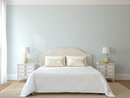 Photo pour Bedroom interior. - image libre de droit