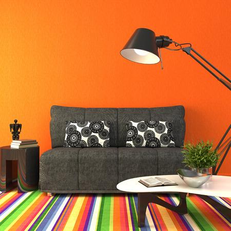 Foto de Modern livingroom interior. 3d render. - Imagen libre de derechos