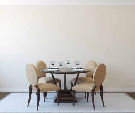Foto de Modern diningroom interior.3d render. - Imagen libre de derechos