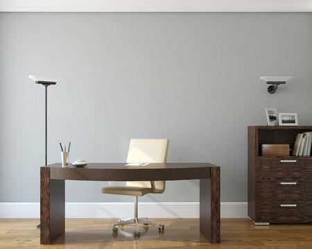 Foto de Modern office interior.3d render. - Imagen libre de derechos
