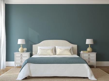Bedroom interior. Provence. 3d render.
