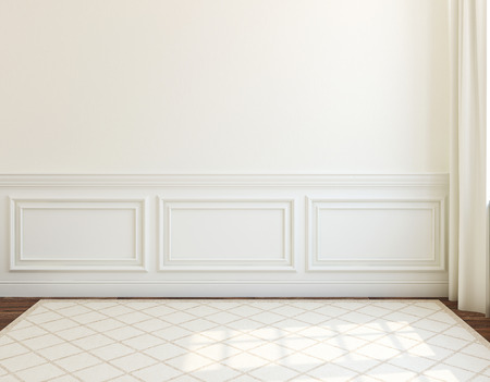Photo for Interior. Empty white room. 3d render. - Royalty Free Image