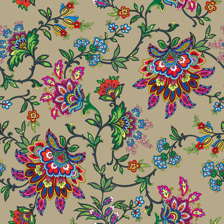 Foto de Elegant Seamless pattern with ornament vector floral illustration in vintage style - Imagen libre de derechos