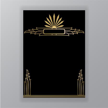 Ilustración de Beautiful art deco pattern - Imagen libre de derechos