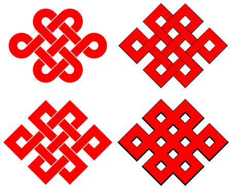 Illustration pour Endless knot - image libre de droit