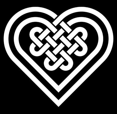 Illustration pour Celtic heart shape knot vector illustration - image libre de droit