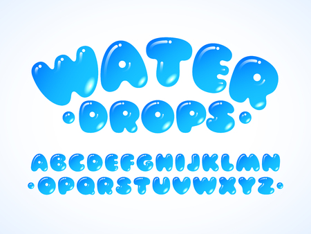Illustration for Vector water grpos alphabet - Royalty Free Image