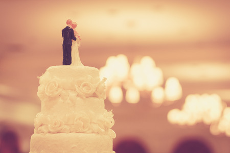 Foto de Beautiful Cake for Wedding Ceremony - Imagen libre de derechos