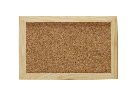 Photo pour Blank Corkboard  isolated on White background - image libre de droit
