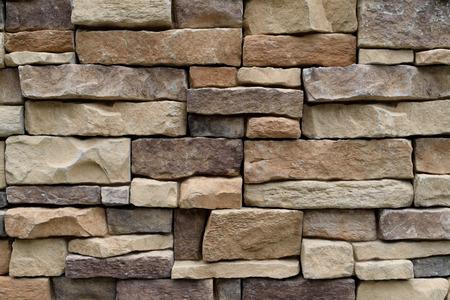 Photo pour Stone wall texture background natural color - image libre de droit