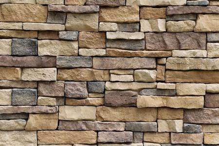 Foto de Stone wall texture background surface natural color - Imagen libre de derechos