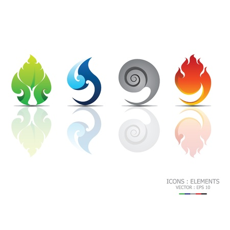 Illustration pour Icons Elements - image libre de droit