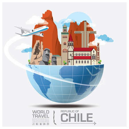 Foto de Chile Landmark Global Travel And Journey Infographic Vector Design Template - Imagen libre de derechos