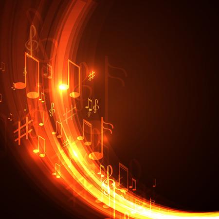 Illustration pour Vector illustration  abstract music background - image libre de droit