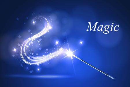 Ilustración de Vector illustration kolorful magic wand. - Imagen libre de derechos