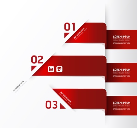 Ilustración de Modern Design template / can be used for infographics / numbered banners / horizontal cutout lines / graphic or website layout - Imagen libre de derechos