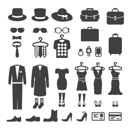 Ilustración de Clothing Store shopping Icon vector - Imagen libre de derechos