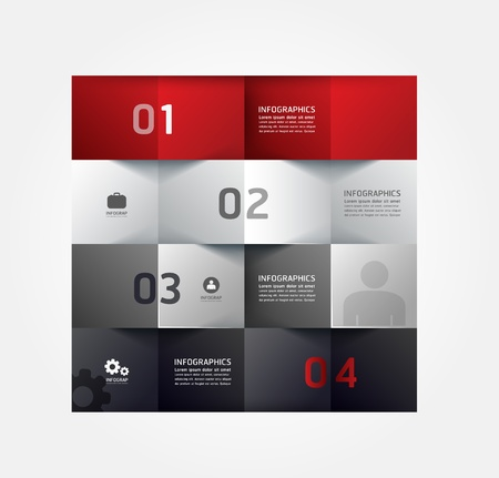 Ilustración de Modern Design Minimal style infographic template / can be used for infographics / numbered banners / horizontal cutout lines / graphic or website layout vector - Imagen libre de derechos