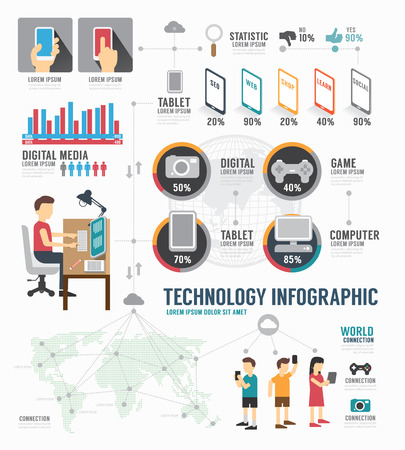 Foto de Infographic Technology digital template design . concept vector illustration - Imagen libre de derechos