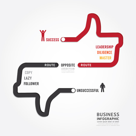 Ilustración de Infographic bussiness. route to success concept template design . concept vector illustration - Imagen libre de derechos