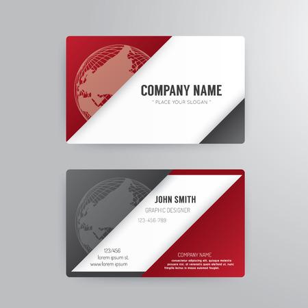 Photo pour Business card template modern abstract concept design. - image libre de droit