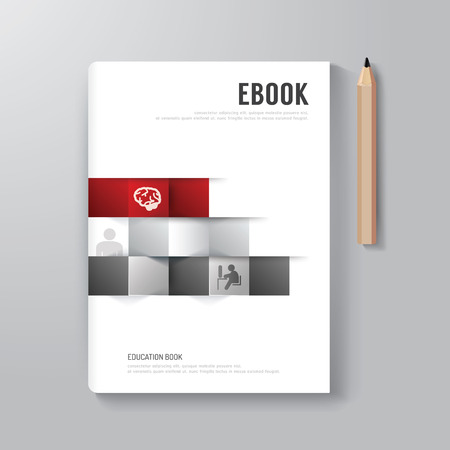 Ilustración de Cover Book Digital Design Minimal Style Template / can be used for E-Book Cover/ E-Magazine Cover/ vector illustration - Imagen libre de derechos
