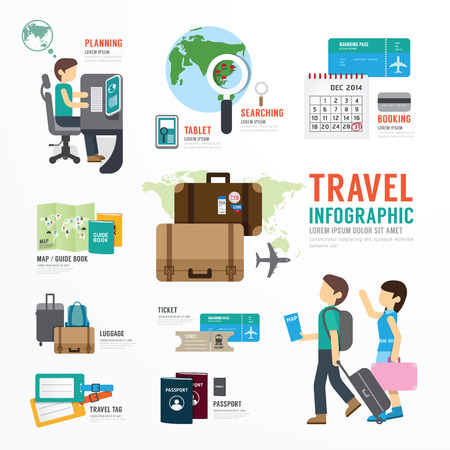 Foto de World Travel Business Template Design Infographic . Concept Vector illustration - Imagen libre de derechos