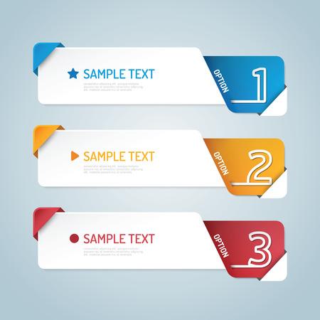 Ilustración de Banners set number modern design vector. - Imagen libre de derechos