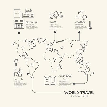 Illustration pour Flat linear Infographic Education Outline concept.Vector Illustration. - image libre de droit