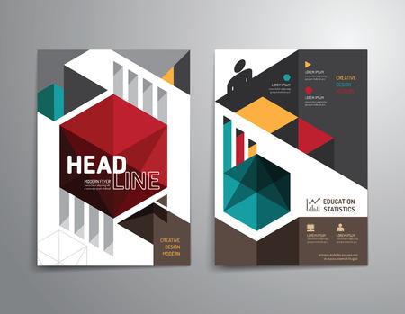 Illustration pour Vector brochure, flyer, magazine cover booklet poster design template.layout education annual report A4 size. - image libre de droit
