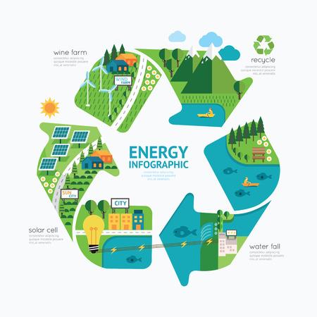 Ilustración de Infographic energy template design.protect world energy concept vector illustration - Imagen libre de derechos
