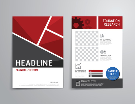 Illustration pour Vector brochure, flyer, magazine cover booklet poster design template.layout education annual report A4 size. - image libre de droit