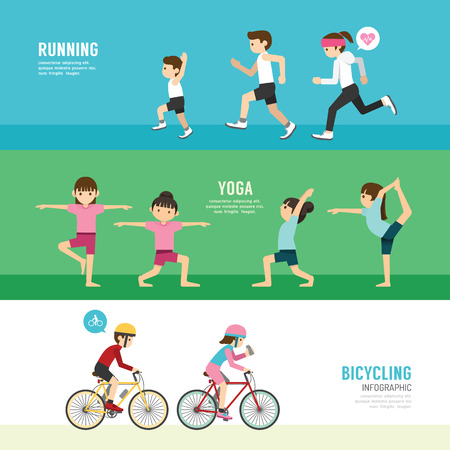 Photo for sports design health concept people exercise set  - Royalty Free Image