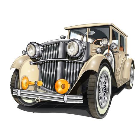 Illustration pour Retro car. - image libre de droit