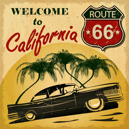 Photo for Welcome to California retro poster. - Royalty Free Image