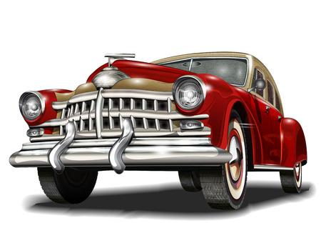 Ilustración de Retro car. - Imagen libre de derechos