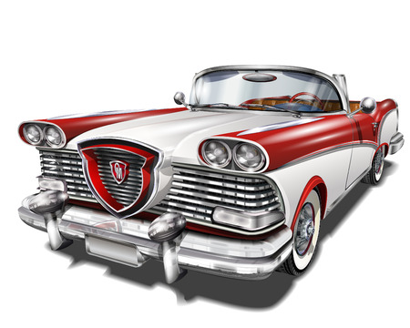 Illustration for Retro car. - Royalty Free Image