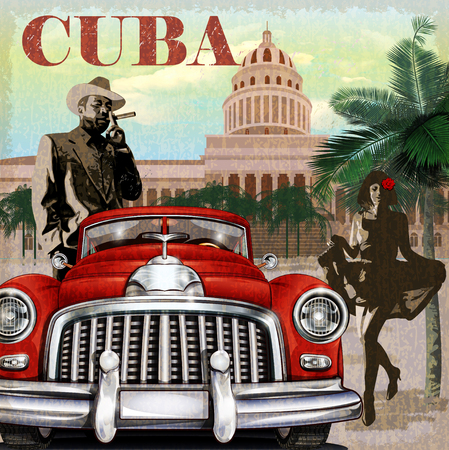 Photo for Cuba retro poster. - Royalty Free Image