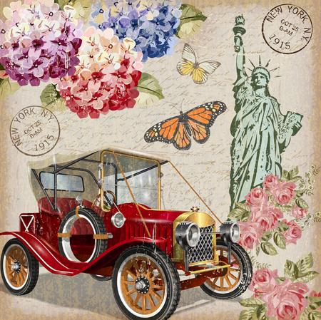 Ilustración de New York vintage poster. - Imagen libre de derechos