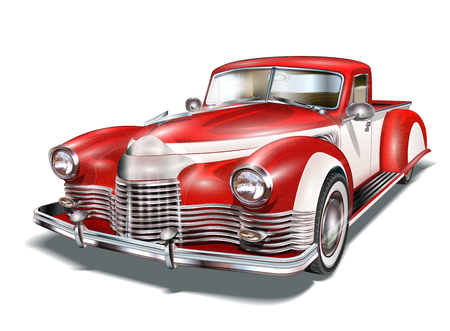 Illustration pour Vintage Car - image libre de droit