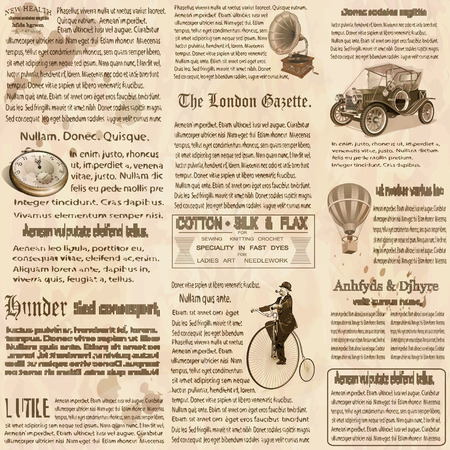 Illustration pour Seamless old newspaper british background. - image libre de droit