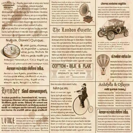 Ilustración de Old newspaper british background. - Imagen libre de derechos