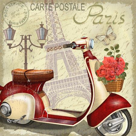 Ilustración de Paris vintage poster. - Imagen libre de derechos